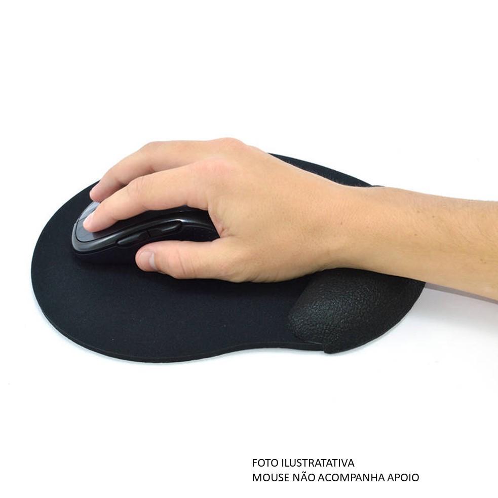 Base Mouse Apoio Punho Ergonômico Preto OF2407 Reliza