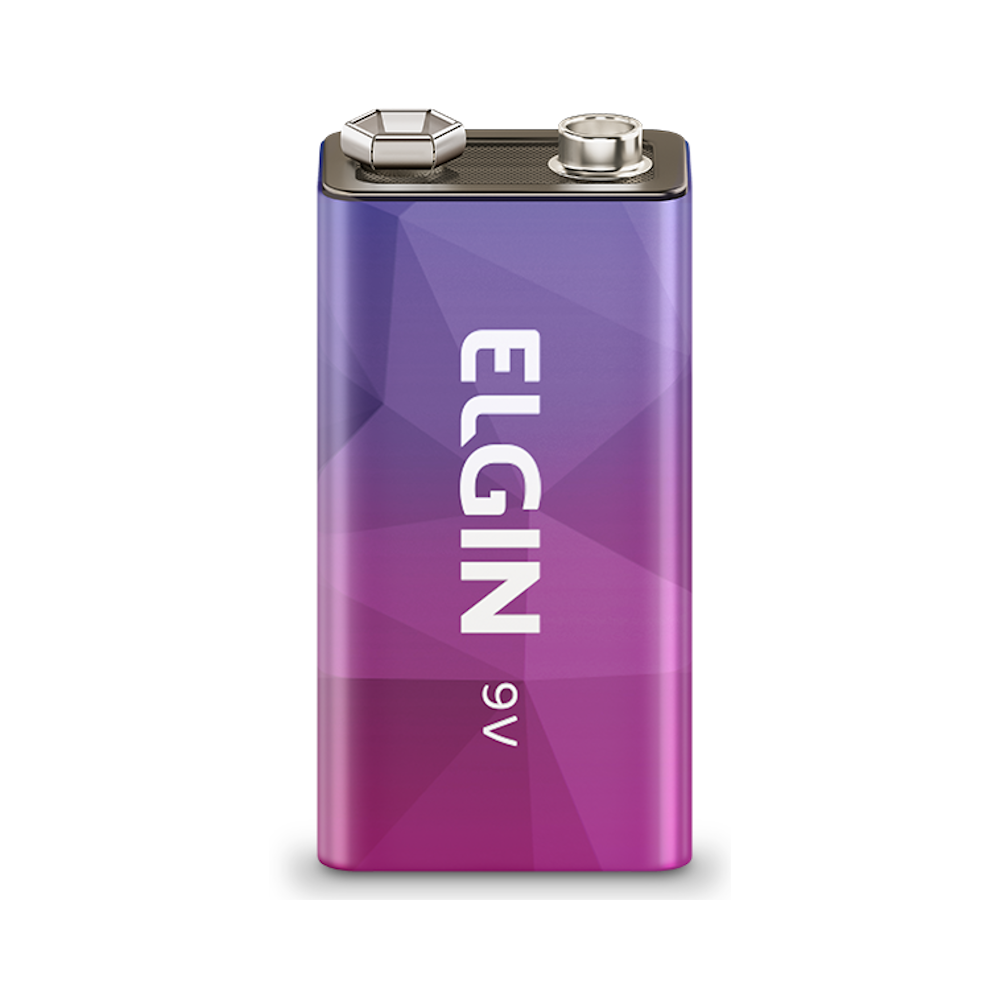 Bateria Elgin 9V Recarregável 250mah