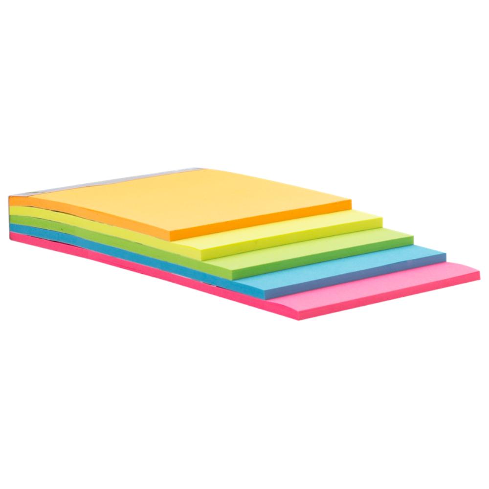 Bloco Adesivo Maxprint 76 até 120mm Cubo Step Neon 74487-1