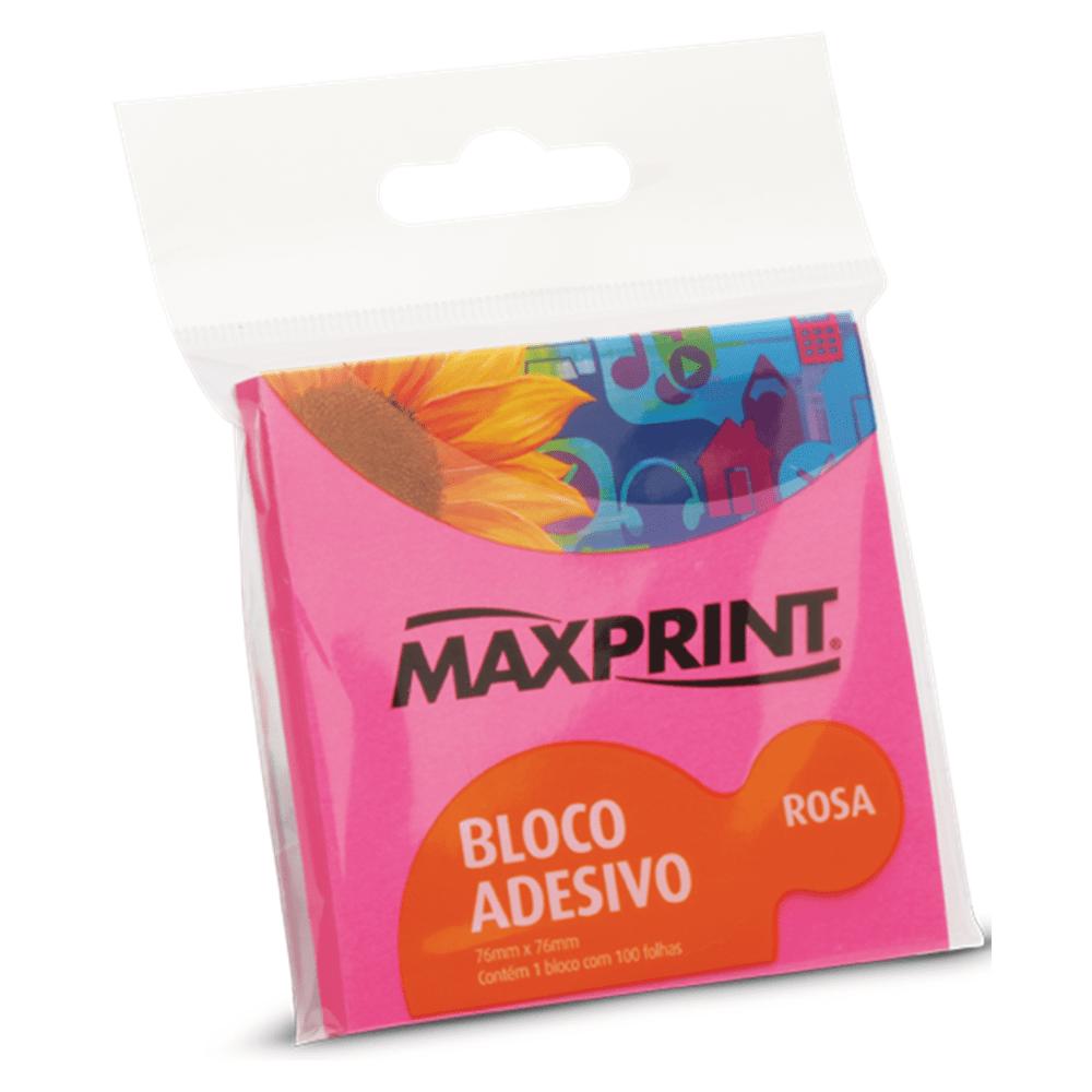 Bloco Adesivo Maxprint 76 X 76mm Rosa Neon 74336-3