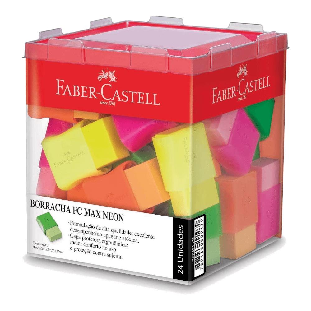 Borracha Plástica Tk Pequena Neon 24 Unidades Faber Castell