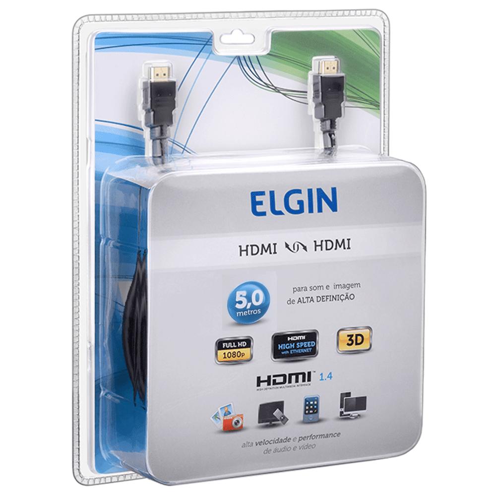 Cabo HDMI Áudio Vídeo 5mts Elgin
