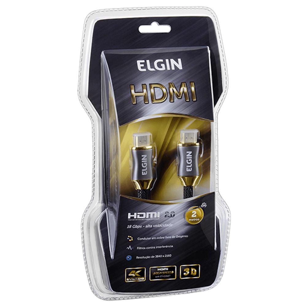 Cabo HDMI Áudio Vídeo 2mts Premium Elgin