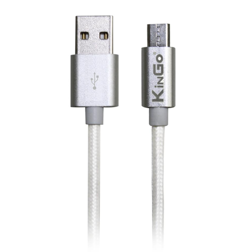 Cabo USB Android Kingo Branco Tipo Corda Premium