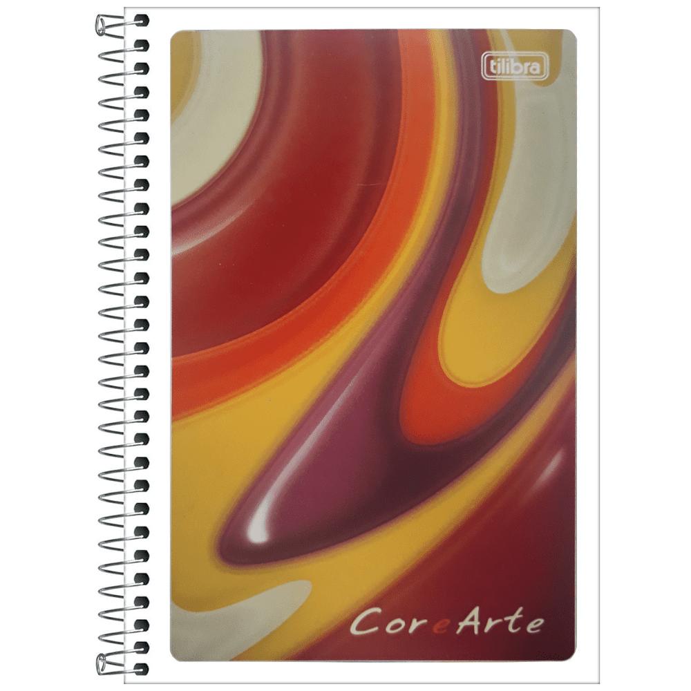 Caderneta de Anotações Tilibra Espiral Capa Flexível Cor e Arte 96 Folhas