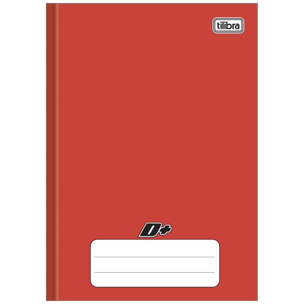 Caderno 1/4 Tilibra Brochura Capa Dura 48fls D+ Vermelho