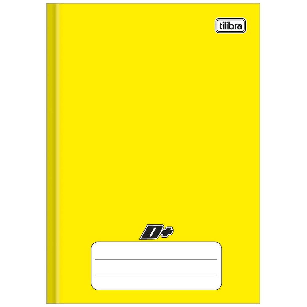 Caderno 1/4 Tilibra Brochura Capa Dura 96fls D+ Amarelo