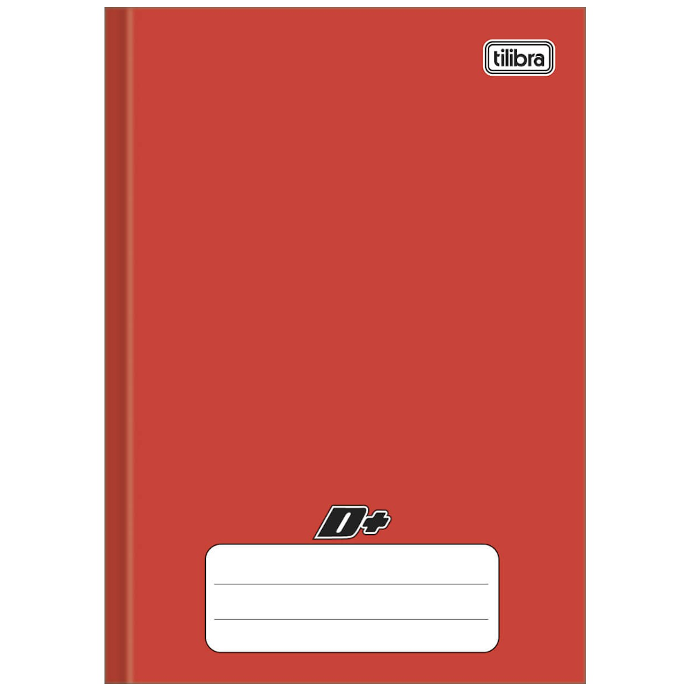 Caderno 1/4 Tilibra Brochura Capa Dura 96fls D+ Vermelho