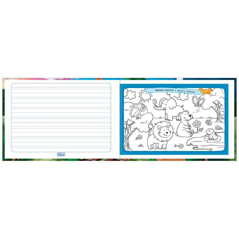 Caderno Caligrafia Tilibra Brochura Capa Dura 40 Folhas Académie Kids Horizontal