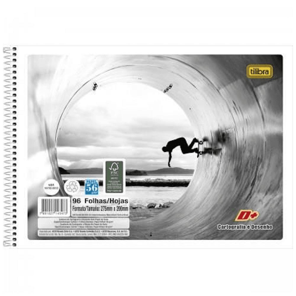 Caderno Cartografia Tilibra Espiral Flexível 96 Folhas D+ Unissex