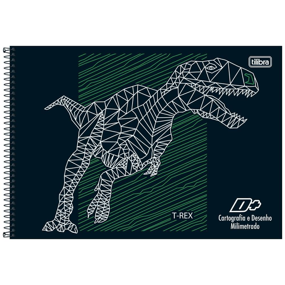 Caderno Cartografia Tilibra Milimetrado Espiral Capa Dura 96 Folhas D+ Unissex