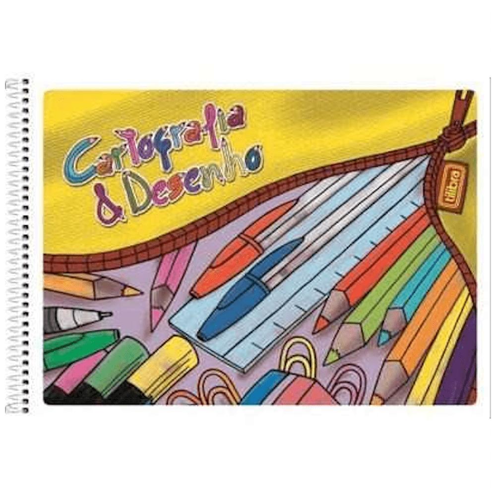 Caderno Cartografia Tilibra Espiral Flexível 48 Folhas Com Seda
