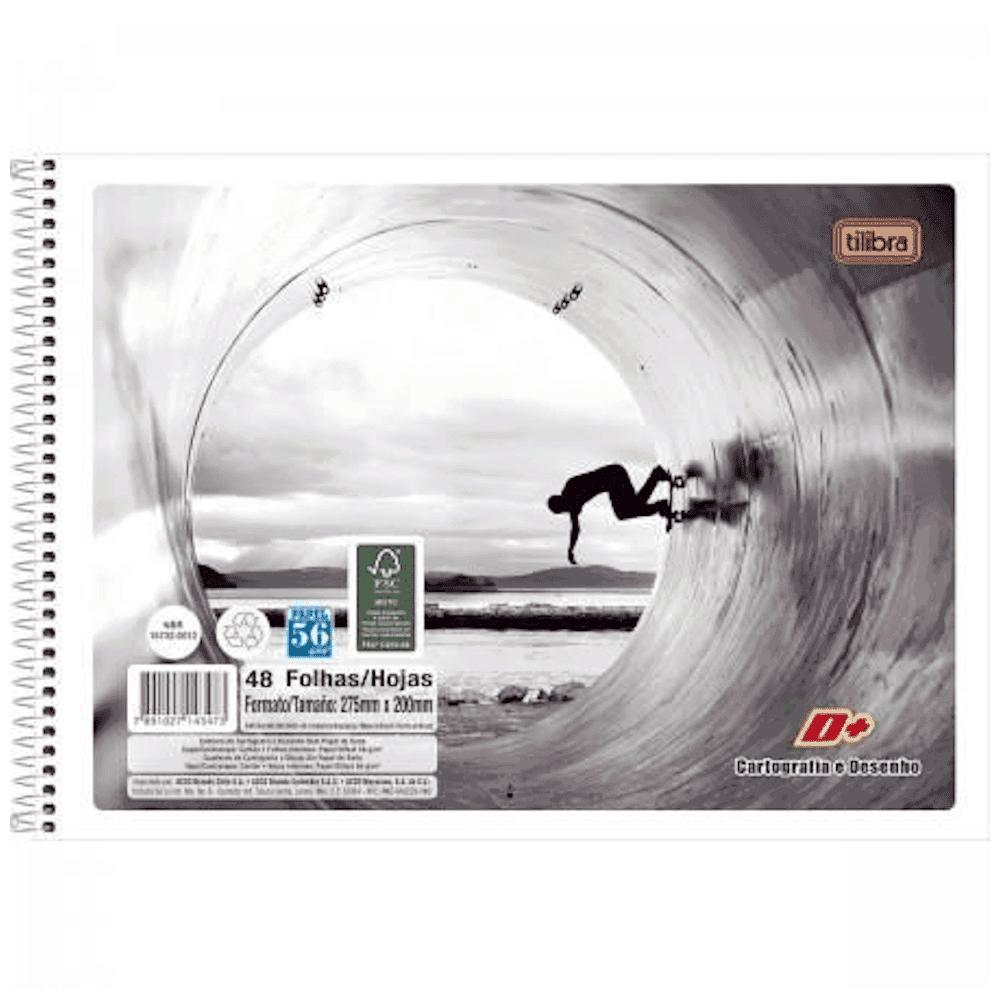 Caderno Cartografia Tilibra Espiral Flexível 48fls D+ Unissex