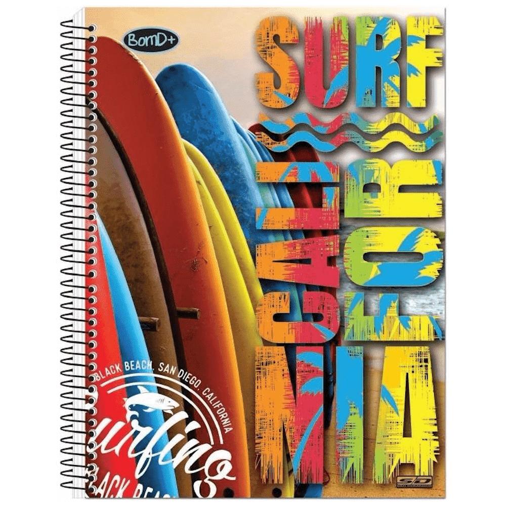 Caderno Universitário São Domingos Espiral Capa Dura 10 Matérias 200 Folhas Bom D+