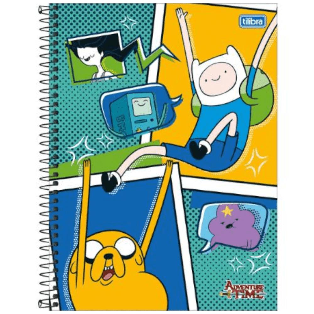 Caderno Universitário Espiral Capa Dura 10 Matérias 200 Folhas Adventure Time Tilibra