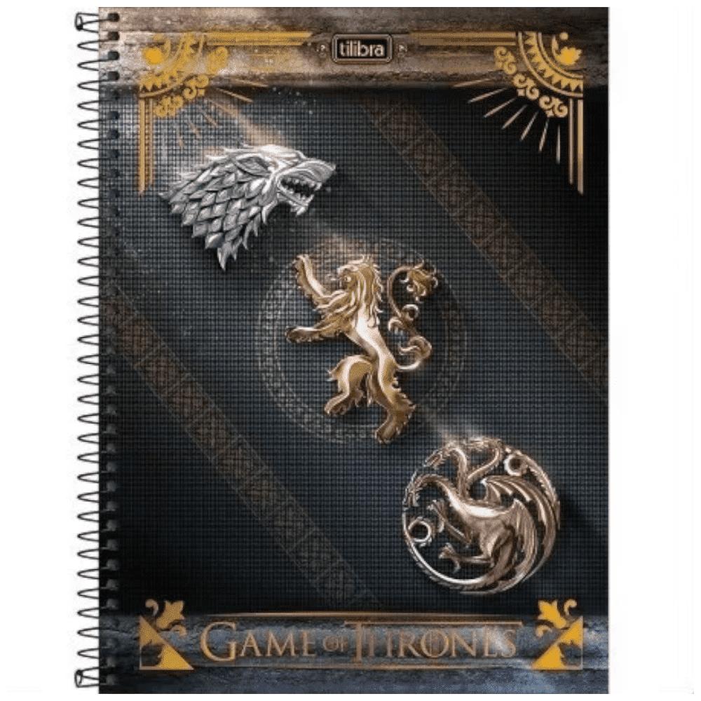 Caderno Universitário Espiral Capa Dura 10 Matérias 200 Folhas Game Of Thrones