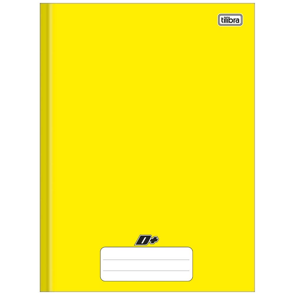 Caderno Universitário Tilibra Brochura Capa Dura 48 Folhas Amarelo