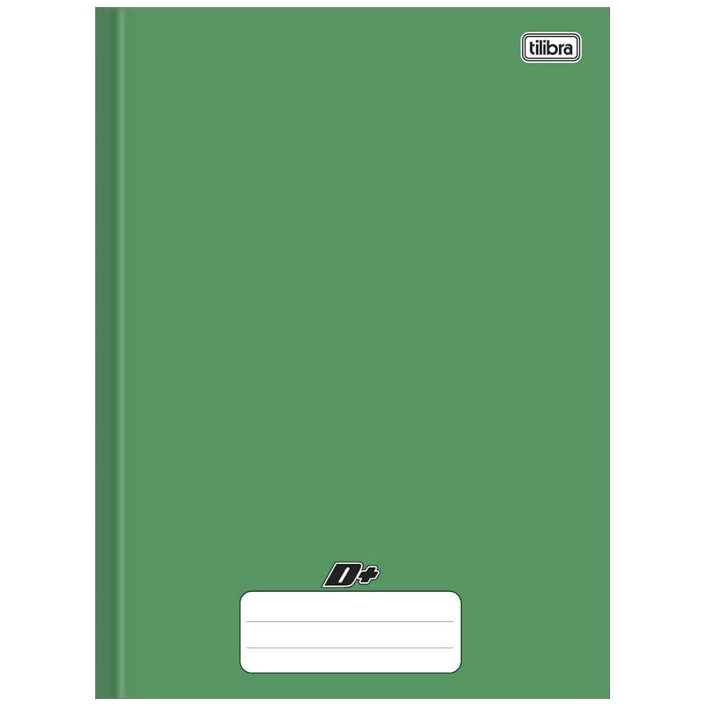 Caderno Universitário Tilibra Brochura Capa Dura 48 Folhas Verde