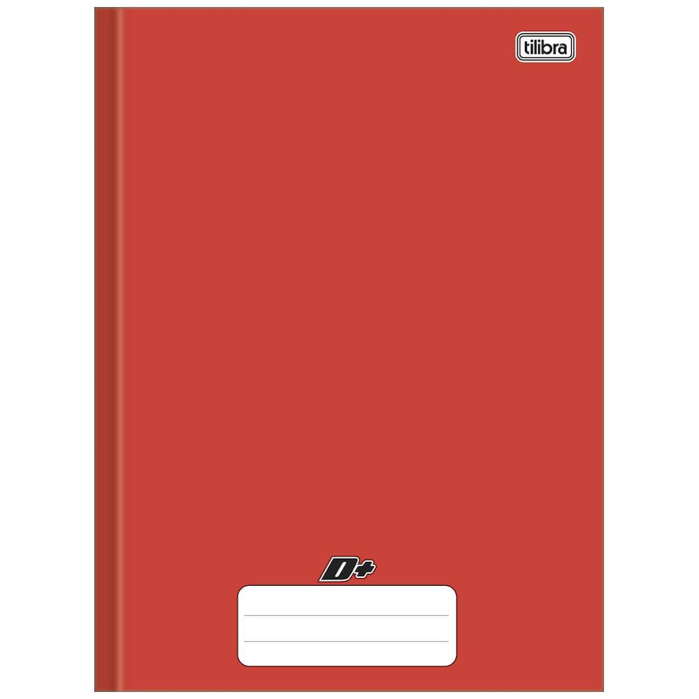Caderno Universitário Tilibra Brochura Capa Dura 48 Folhas Vermelho