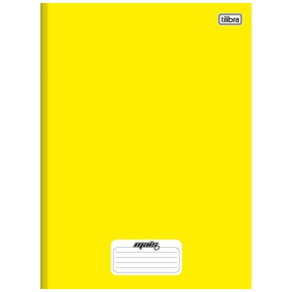 Caderno Universitário Tilibra Brochura Capa Dura 96 Folhas Amarelo