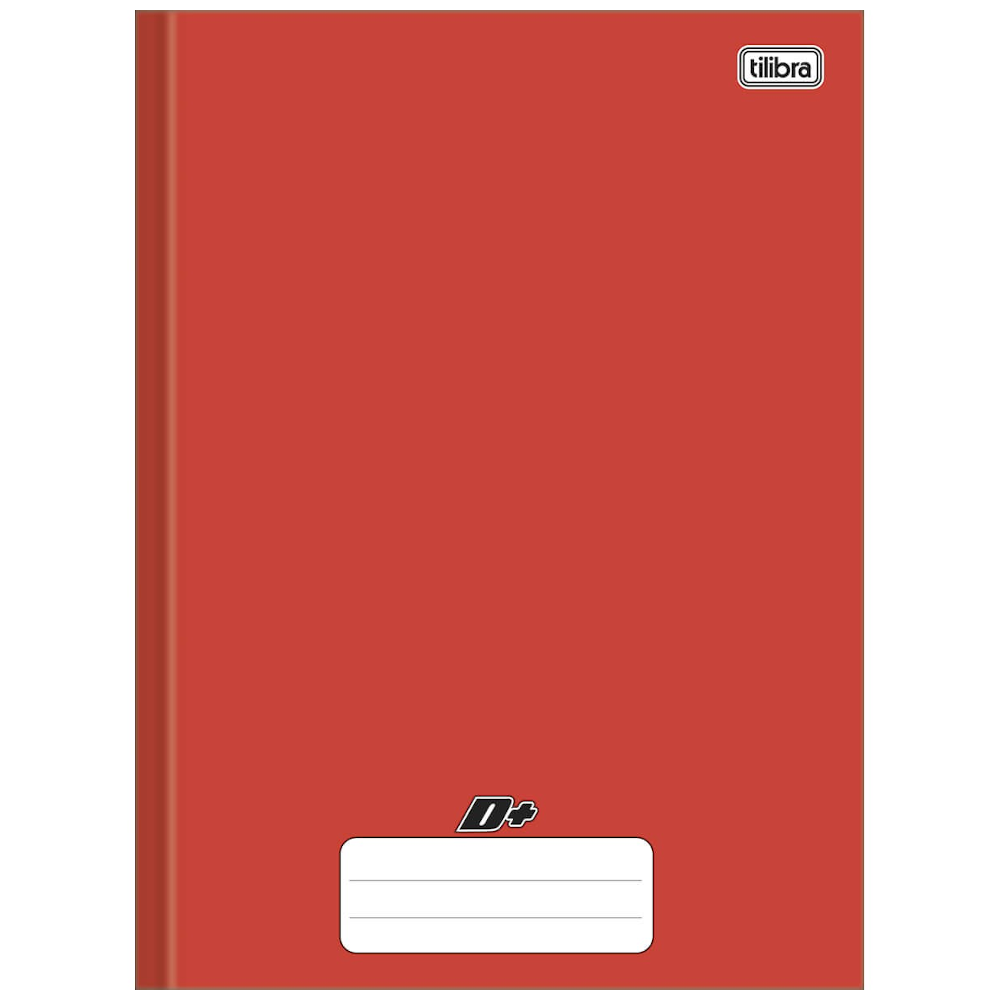 Caderno Universitário Tilibra Brochura Capa Dura 96 Folhas Vermelho