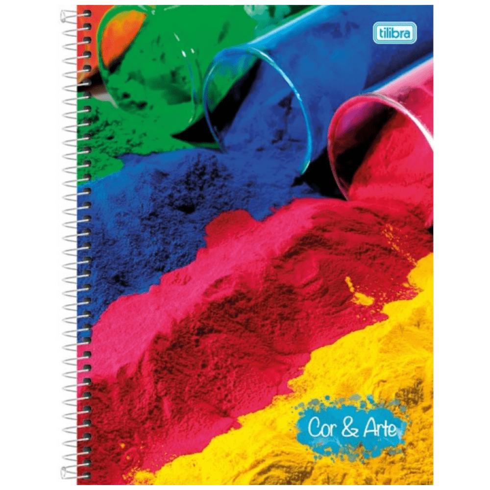 Caderno Universitário Tilibra  Espiral Capa Dura 1 Matéria 96 Folhas Cor & Arte