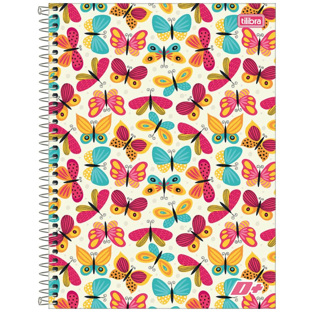 Caderno Universitário Tilibra Espiral Capa Dura 1 Matéria 96 Folhas D+ Feminino