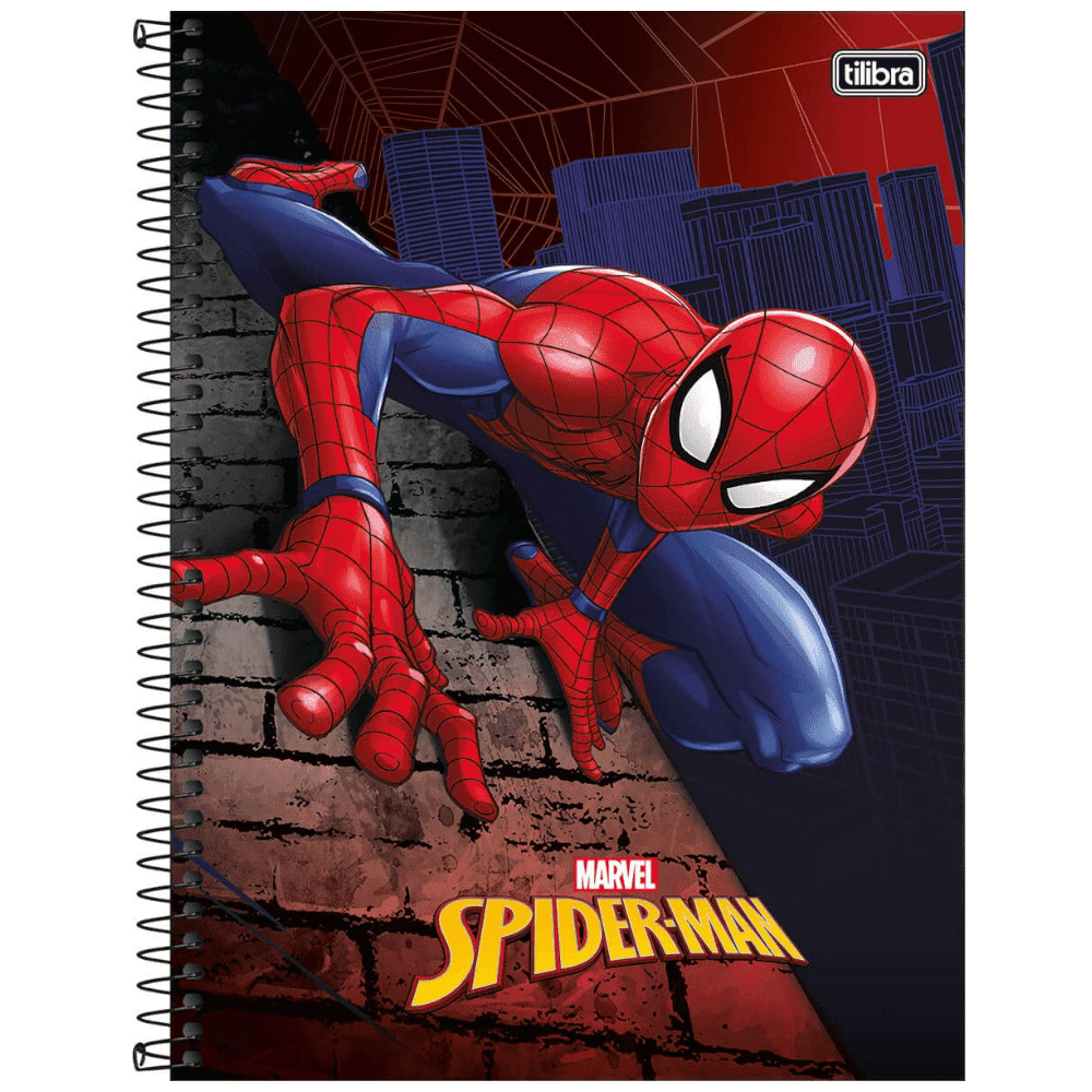Caderno Universitário Tilibra Espiral Capa Dura 1 Matéria 96 Folhas Spider-Man