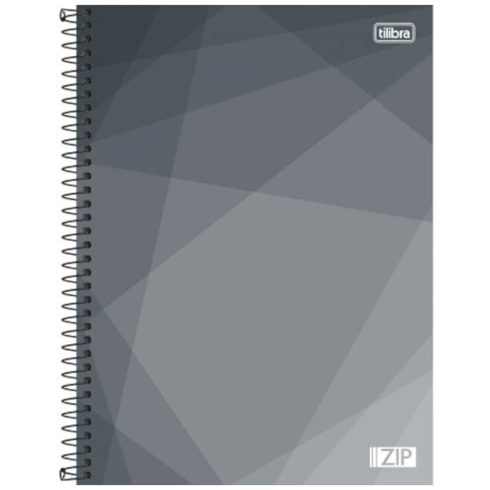 Caderno Universitário Tilibra Espiral Capa Dura 1 Matéria 96 Folhas ZIP