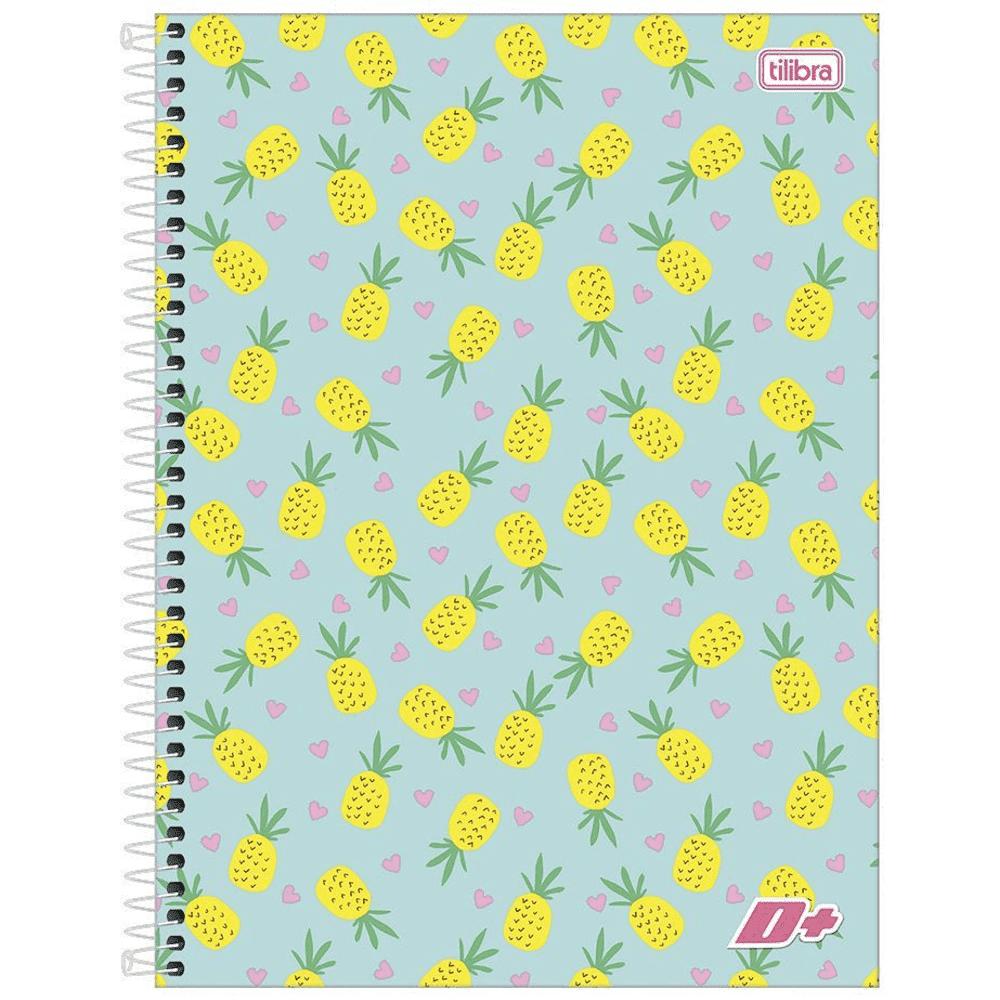 Caderno Universitário Tilibra Espiral Capa Dura 10 Matérias 200 Folhas D+ Feminino