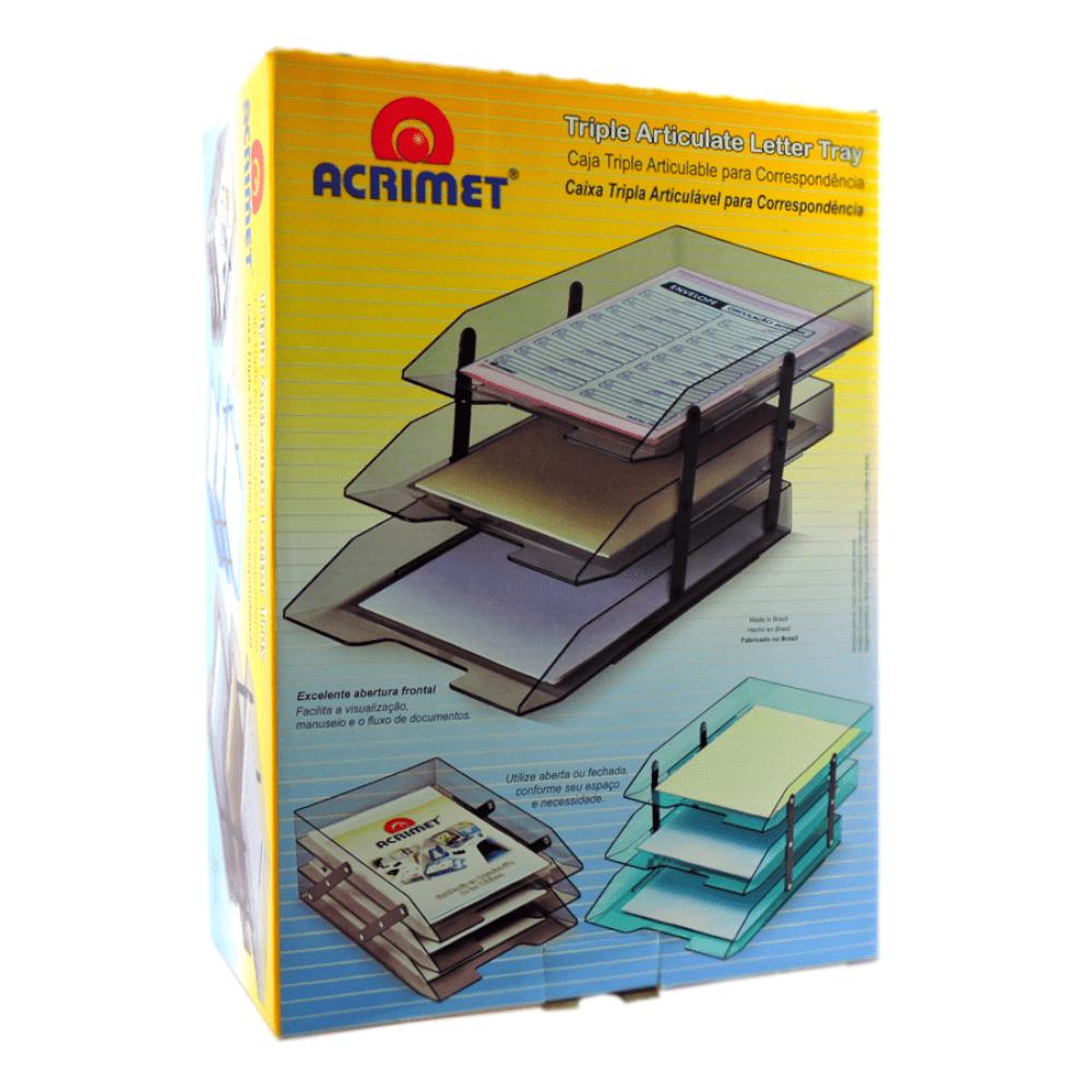 Caixa de Correspondência Tripla Articulável Cristal Acrimet 245.3
