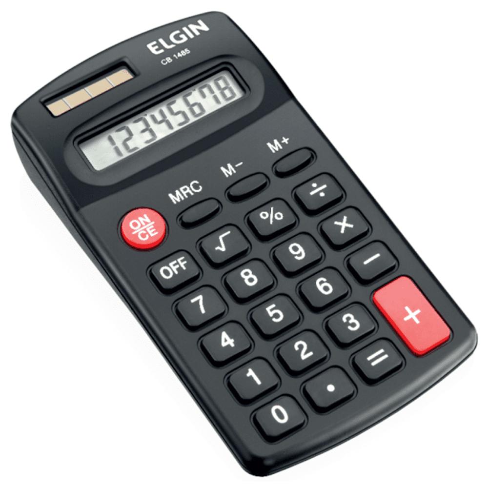Calculadora de Bolso Elgin 8 Dígitos CB1485 Preta