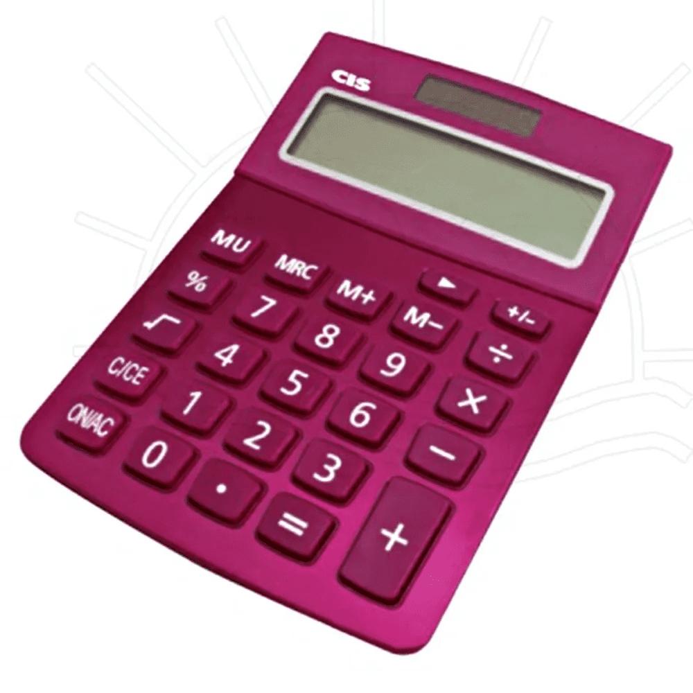 Calculadora de Mesa CIS 12 Dígitos Dual Power C-219 Rosa