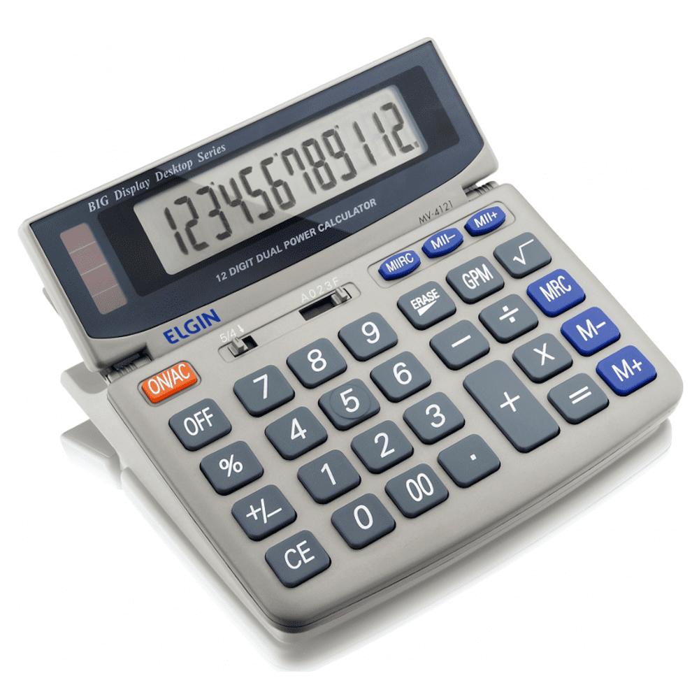 Calculadora de Mesa Elgin 12 Dígitos MV-4121 Cinza