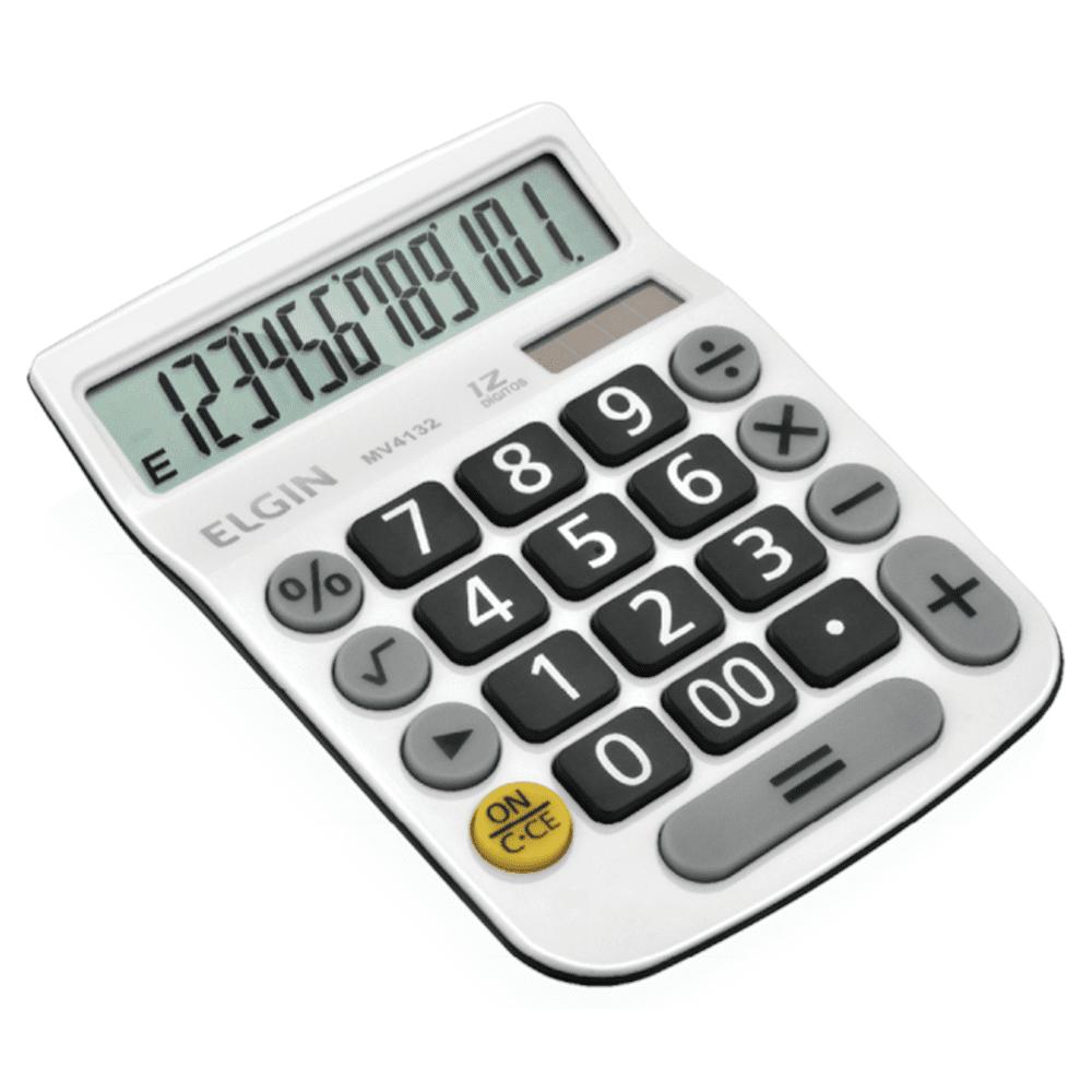 Calculadora de Mesa Elgin 12 Dígitos MV4132 Branca