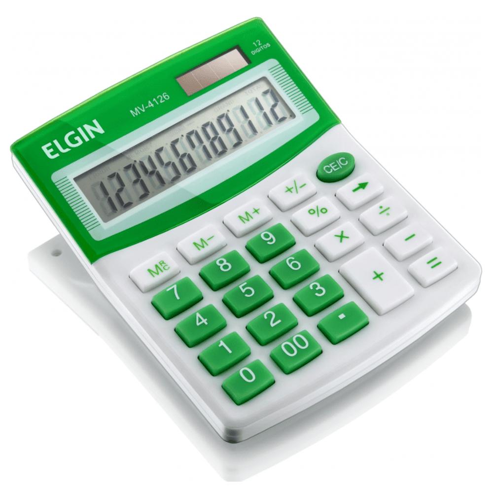 Calculadora de Mesa Elgin 12 Dígitos MV-4126 Verde