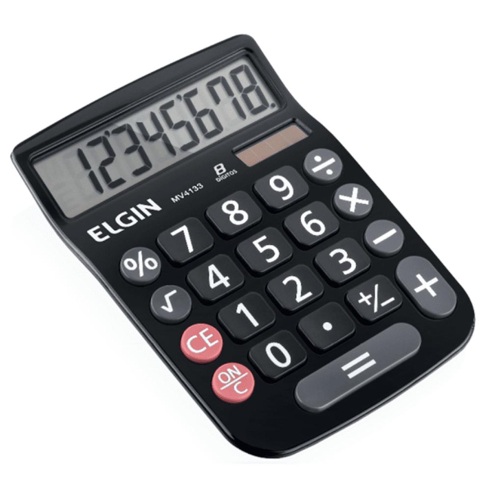 Calculadora de Mesa Elgin 8 Dígitos MV4133 Preta