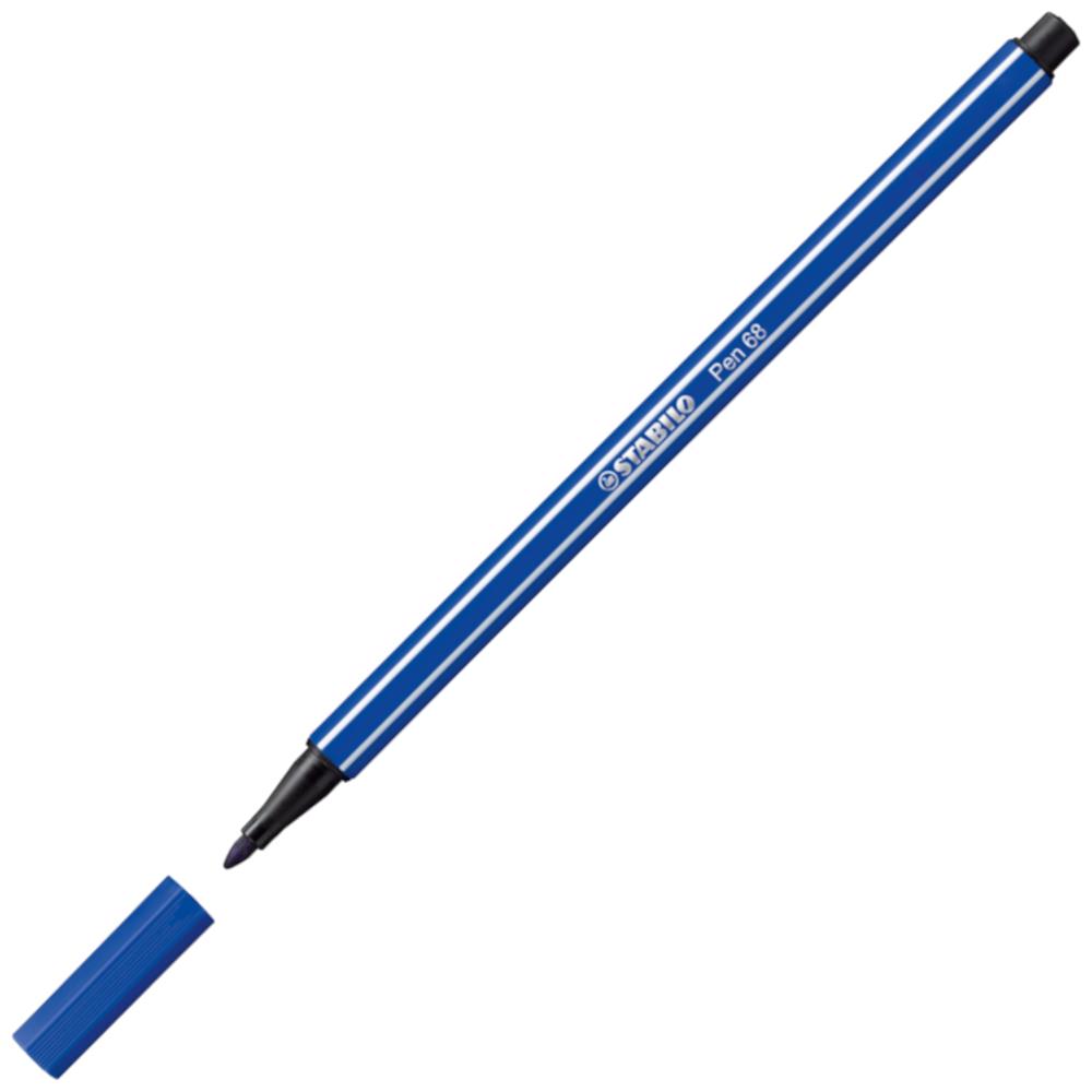 Caneta Hidrográfica Stabilo Pen 68/32 Azul Escuro
