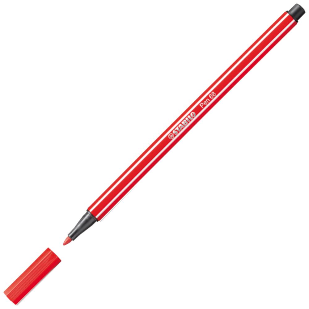 Caneta Hidrográfica Stabilo Pen 68/48 Vermelho