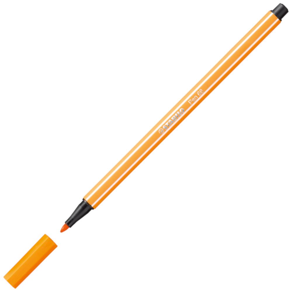 Caneta Hidrográfica Stabilo Pen 68/54 Laranja