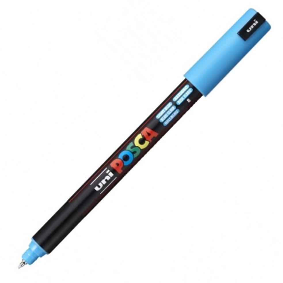 Caneta Uni Posca Ponta 0.7mm Pc-1mr Azul Claro