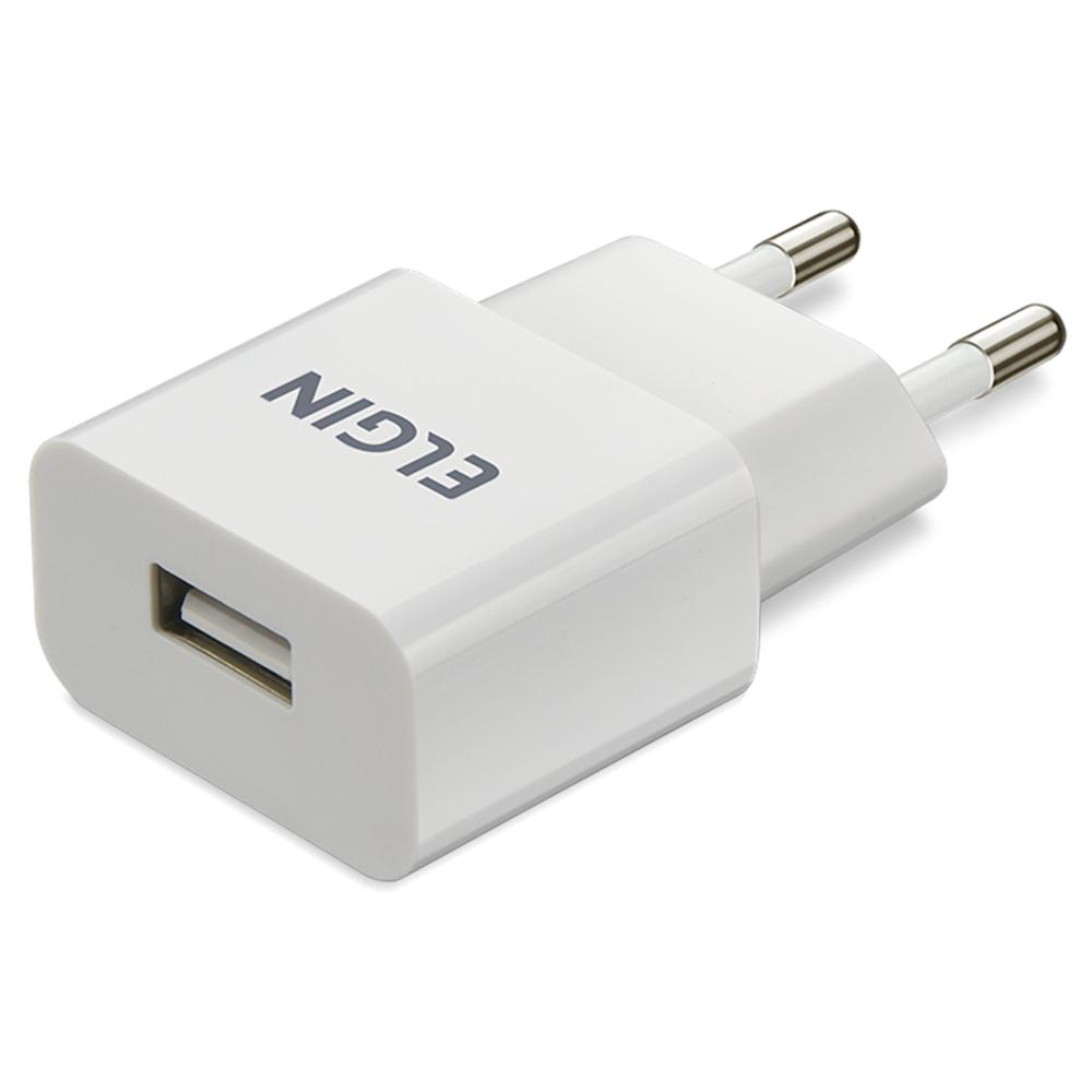 Carregador USB Elgin Tomada Smartphone 1 Saída 5V 1A