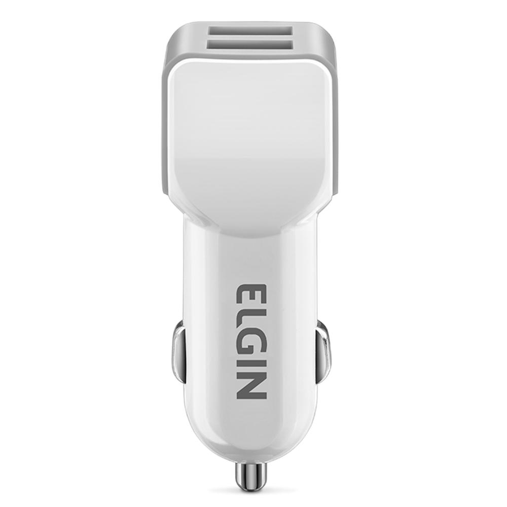 Carregador USB Elgin Veicular com 2 Saídas 5V 2A