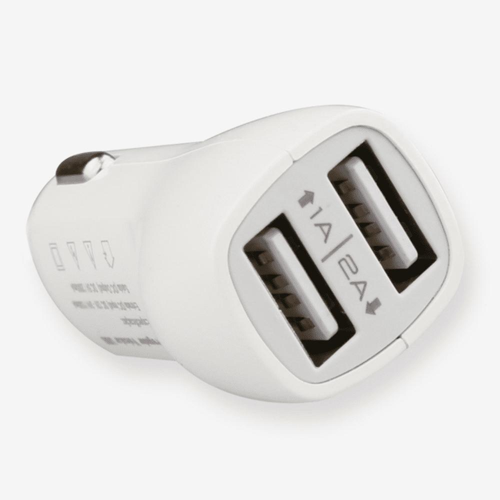 CARREGADOR VEICULAR DUAL USB LINHA PREMIUM C201 KINGO