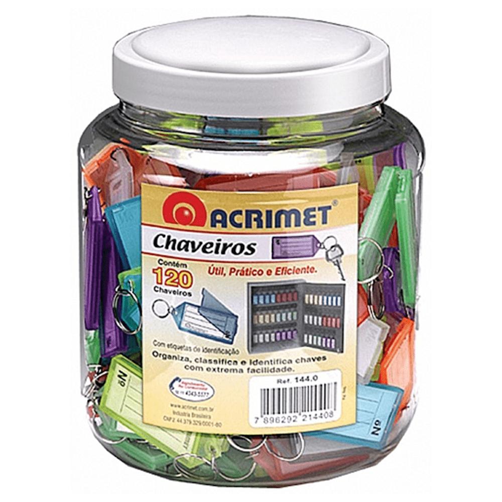 Chaveiro Etiqueta Acrimet Pote 120 Unidades Sortidos 144.0