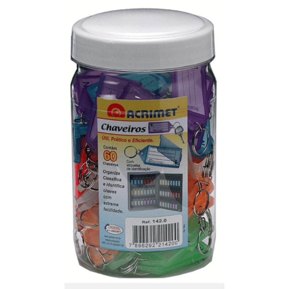 Chaveiro Etiqueta Acrimet Pote 60 Unidades Sortidos 142.0