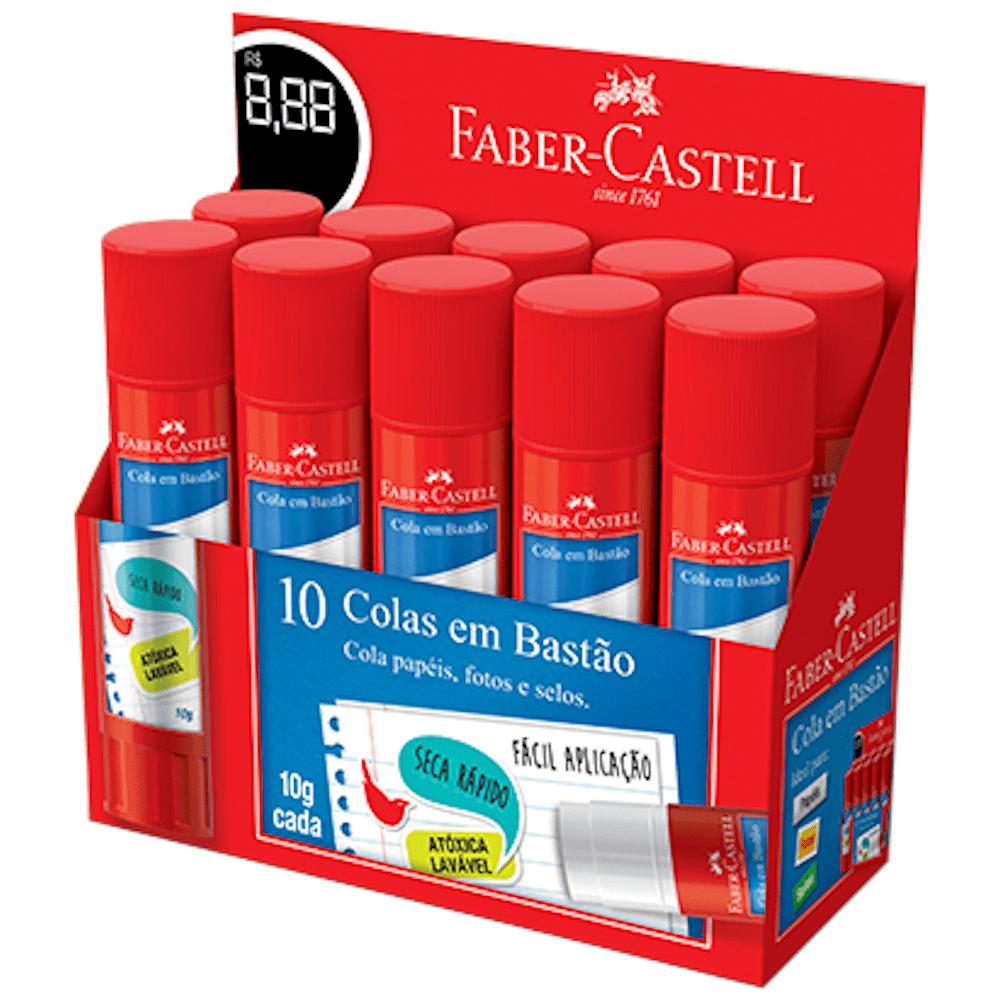 Cola Bastão 10g 10 Unidades Faber Castell