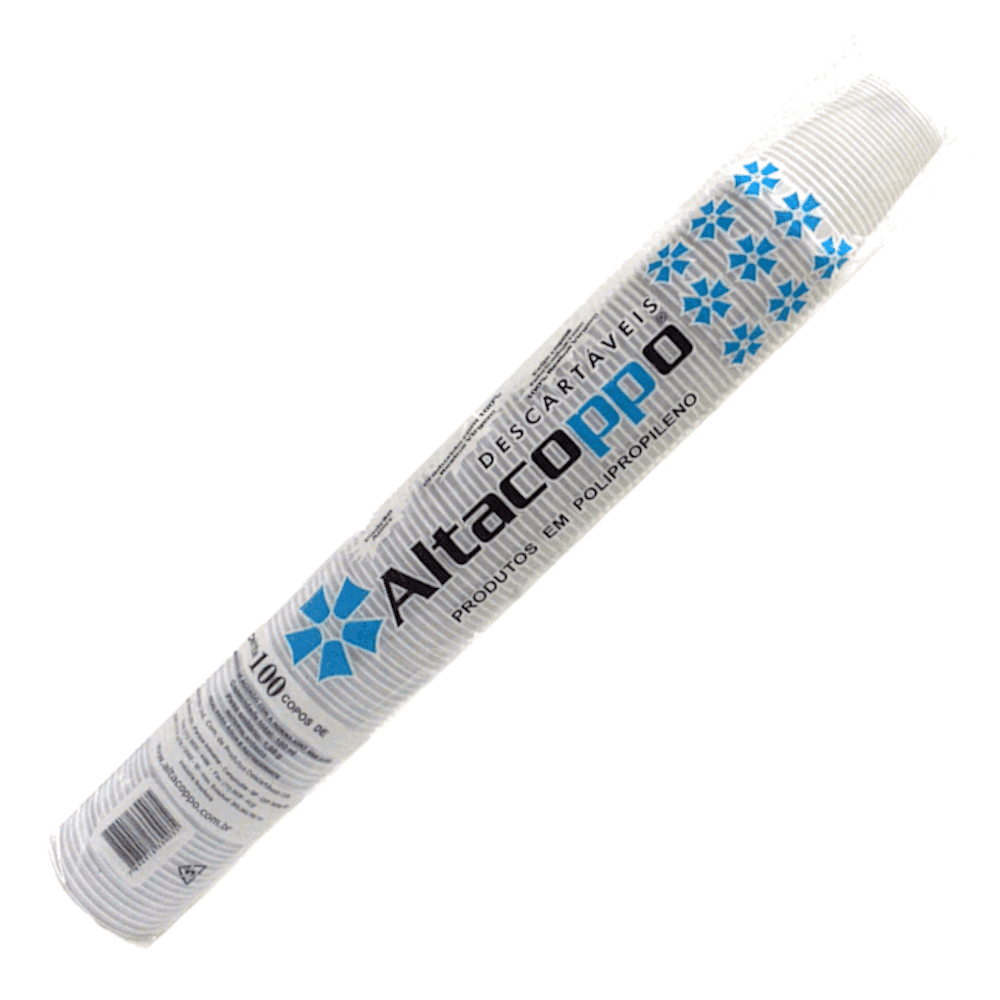 Copo Plástico Descartável 180ml Altacoppo 2500un Branco