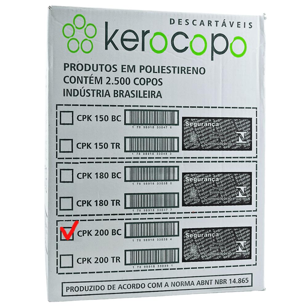Copo Plástico Descartável 200ml Kerocopo 2500un Branco