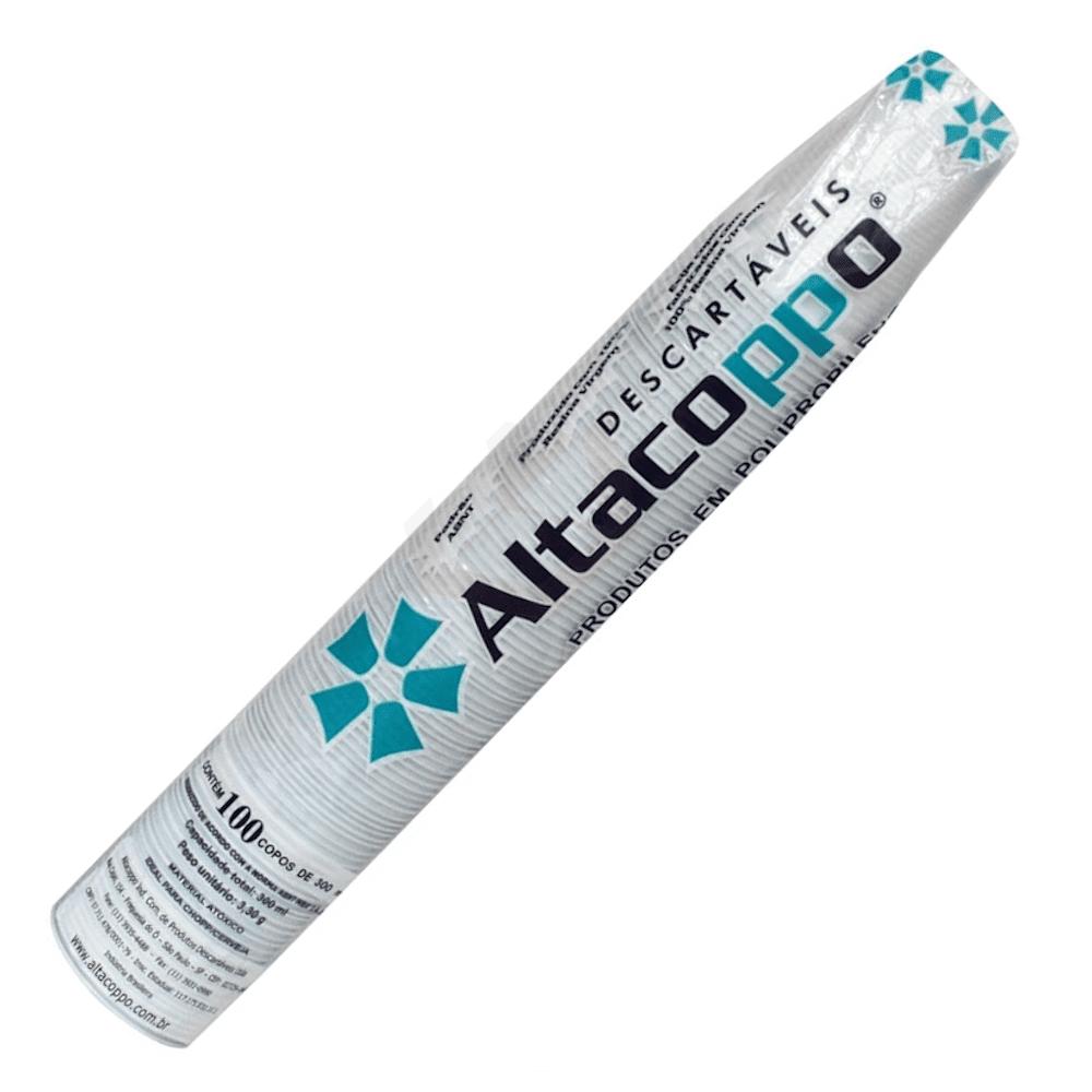 Copo Plástico Descartável 300ml Altacoppo 100un Branco